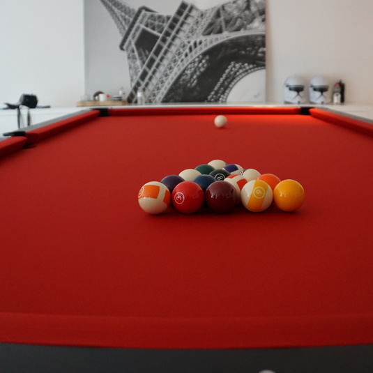 Pool Lexor Black Knight 9ft - Kapellen - rood